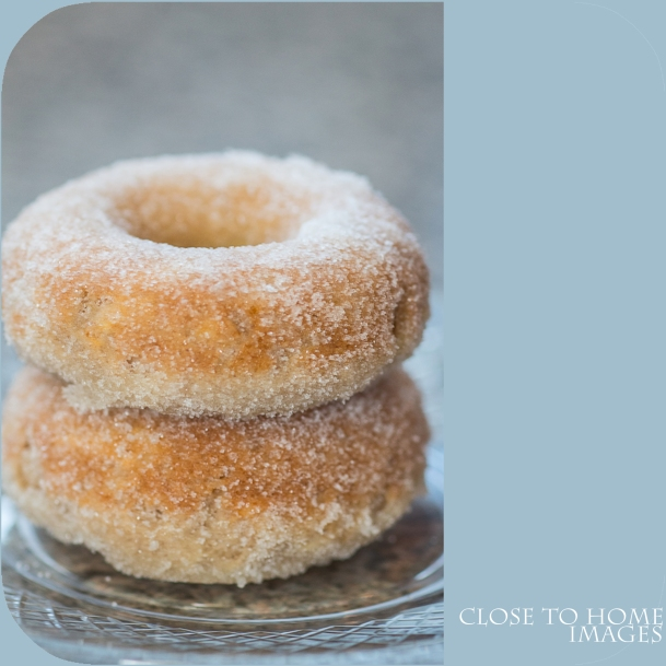 Apple and orange scented doughnuts